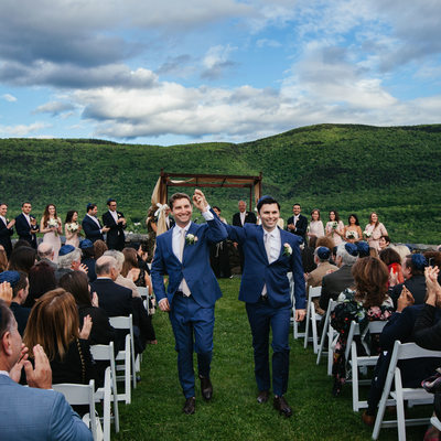 Gay Jewish Destination Wedding in New England Mountains
