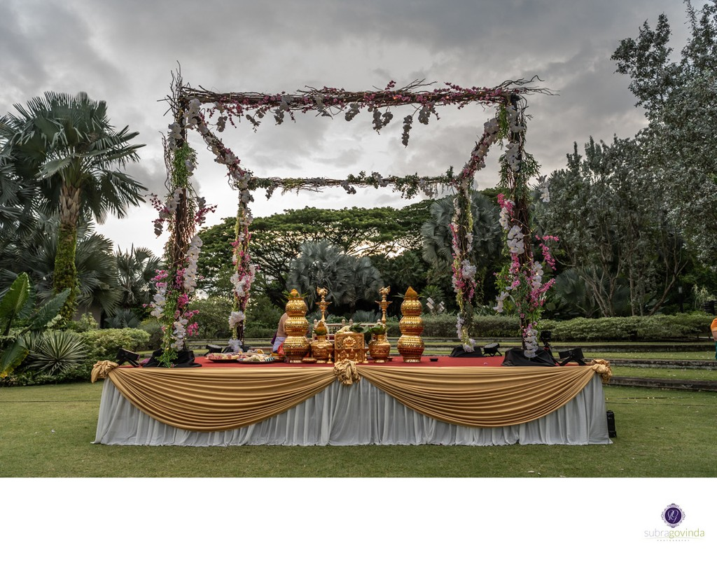 Outdoor Indian Wedding in Singapore