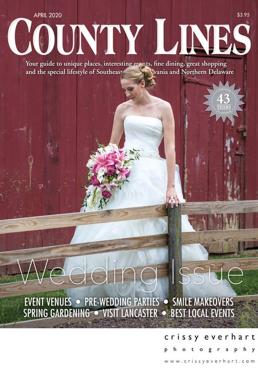 County Lines Magazine Wedding Issue Cover Photo