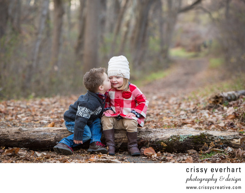 Twin Portraits at Fall Mini Sessions in Newtown Square