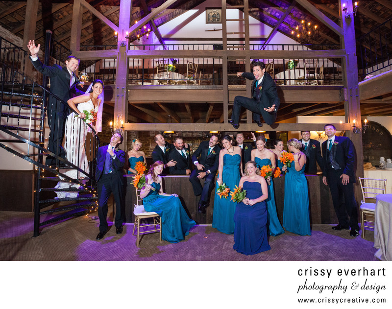 Crazy Wedding Party At The Barn On Bridge Collegeville