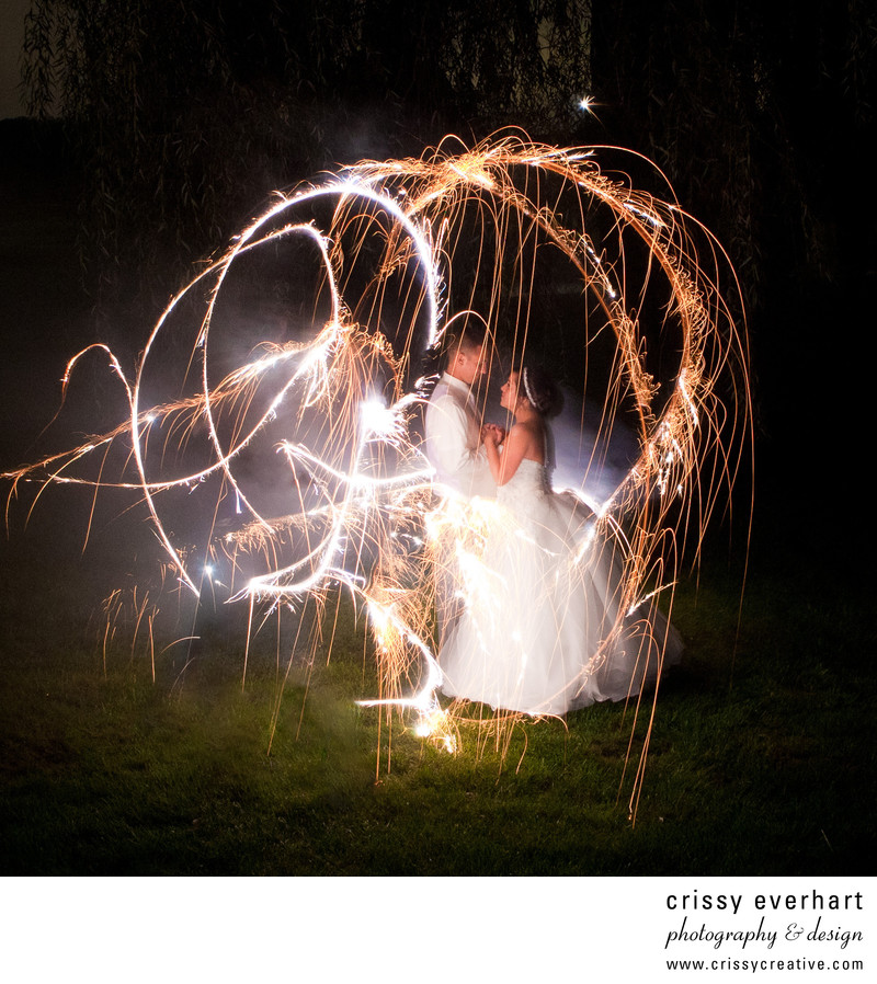 Sparkler Long Exposure Photo- Best Wedding Photographer