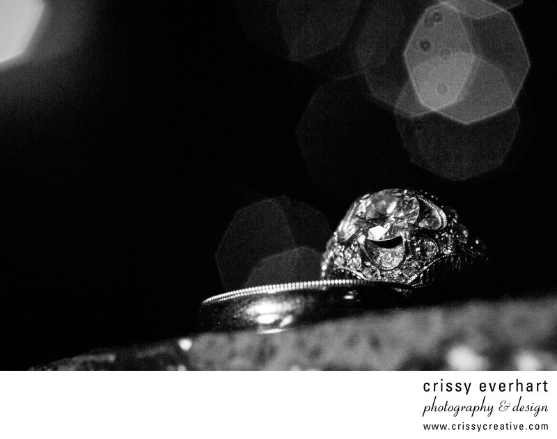 Chester County Wedding Photographer - Ring B&W Macro