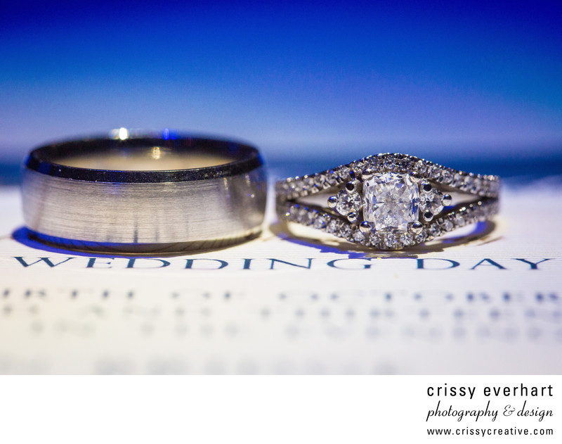 Wedding Rings on Invitation - Macro Photography