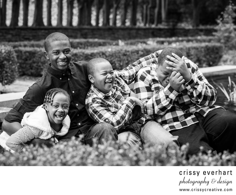 Family Portraits of Four Siblings at Ridley Creek