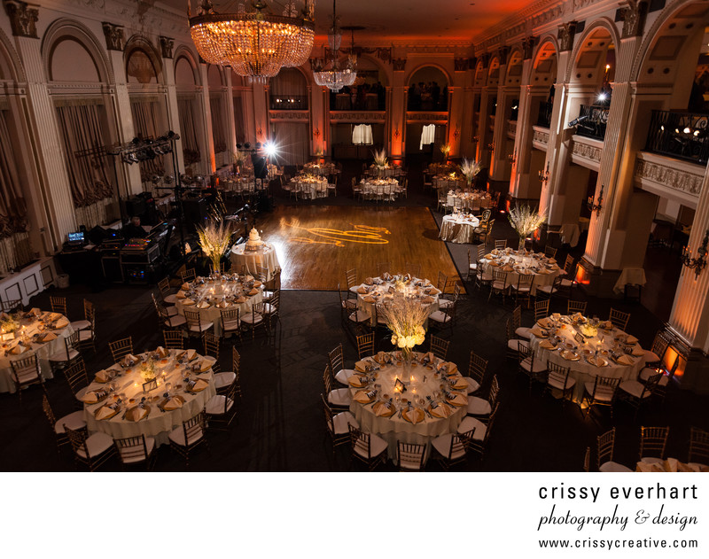 Philadelphia's Ballroom at the Ben Reception Decor