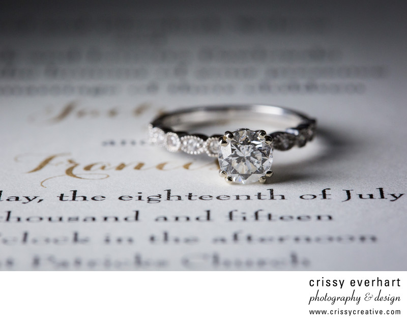 Malvern Wedding Photographer - Ring Detail Photo