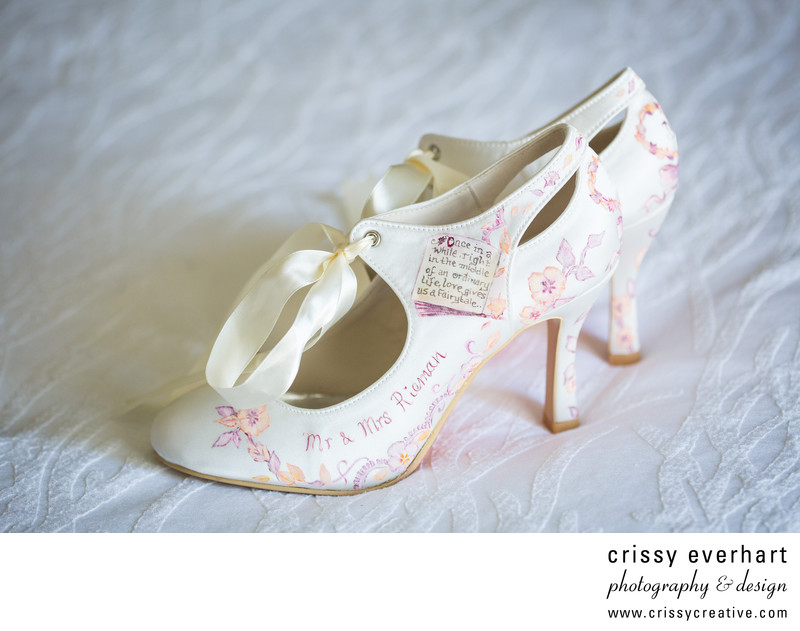 Hand Painted Bridal Shoes in Downingtown, PA