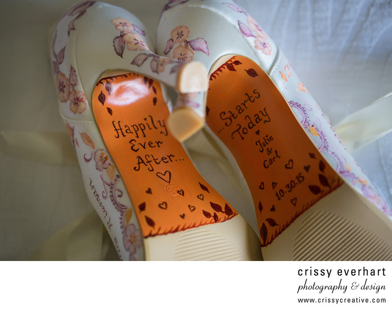 Hand Painted Bridal Shoes - Happily Ever After