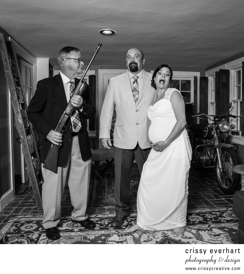 Shotgun Wedding! Clients with Great Sense of Humor!