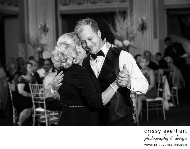 Groom and Mother Dance at Ballroom at the Ben, Phila.