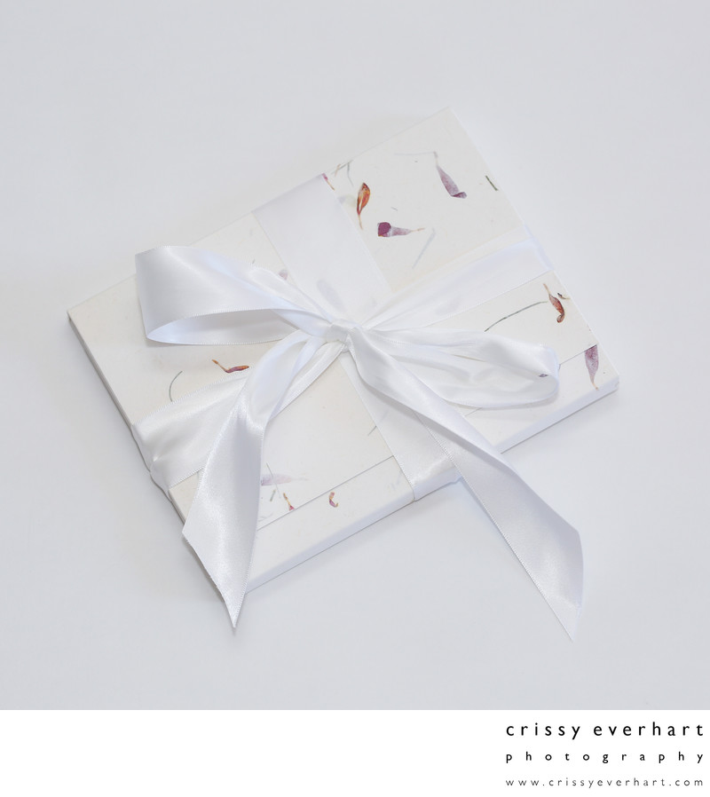 Image Folio tied with Ribbon Closure