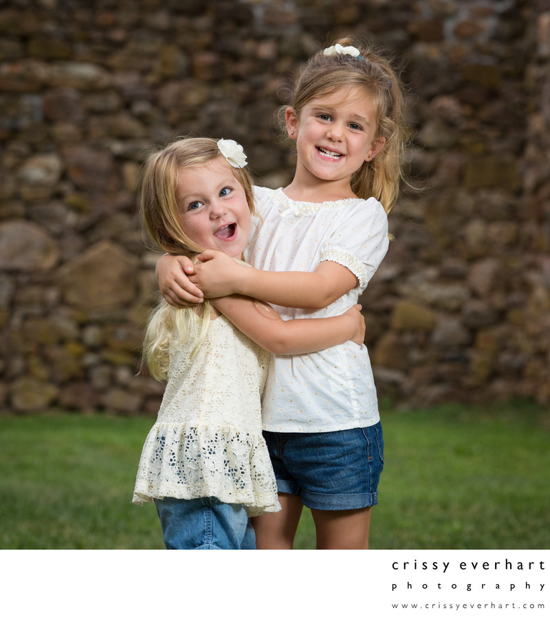 Malvern Photo Studio - Sisters Hugging