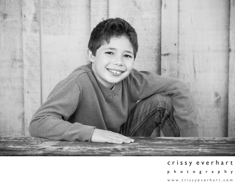 Middle School Portraits with Rustic Feel