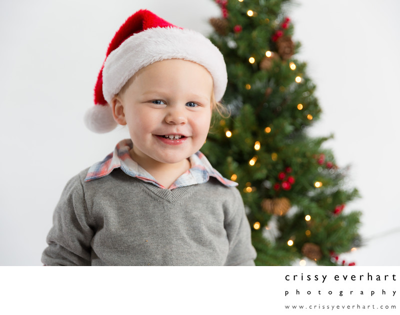 Santa Hat Holiday Portrait Sessions in Chester County