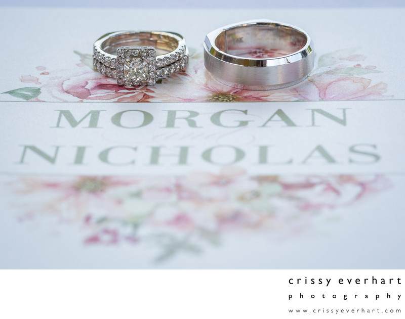 Gables Chadds Ford Wedding Photography- Rings on Invite