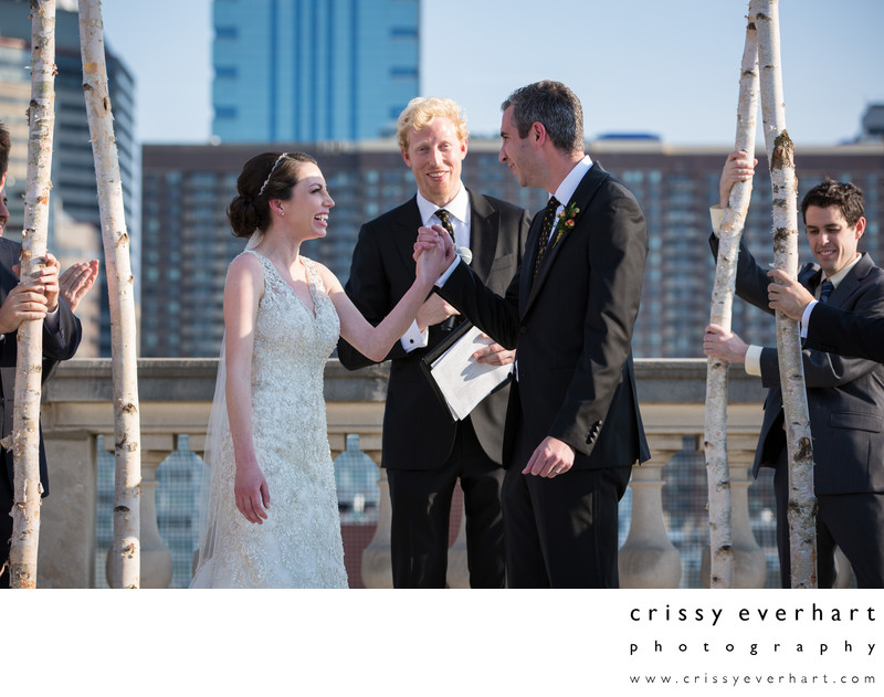 Philadelphia Free Library Rooftop Wedding Photographer