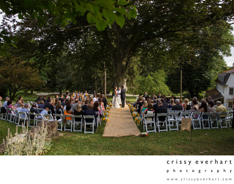 Outdoor Wedding Ceremony at Historic Yellow Springs