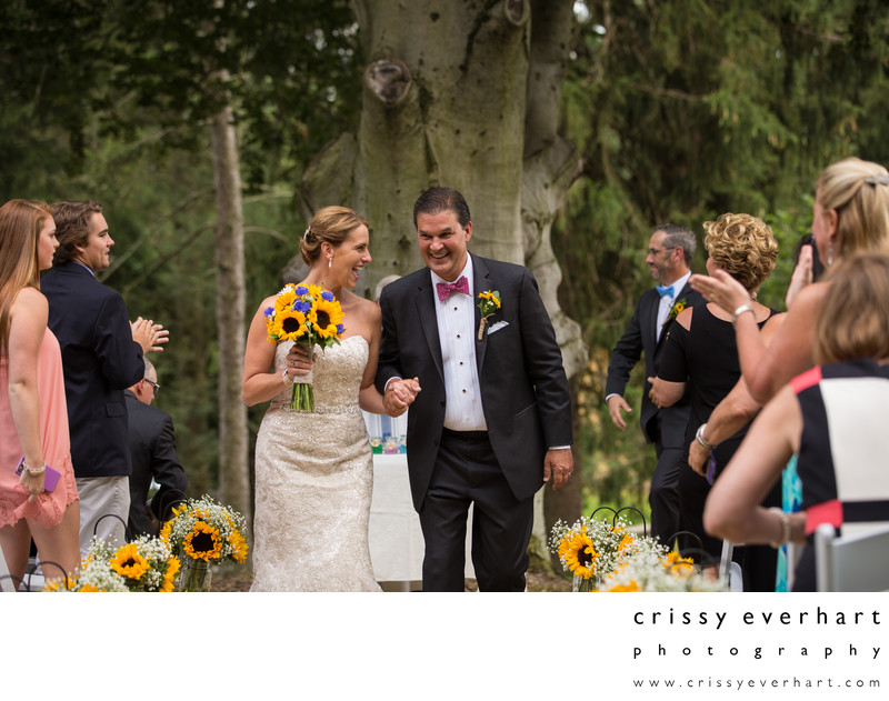Historic Yellow Springs Sunflower Wedding Ceremony