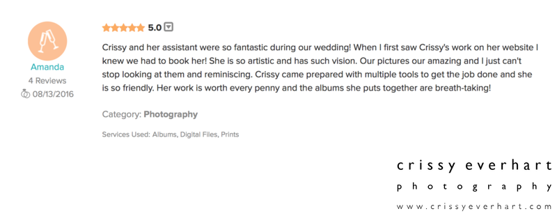 review from Amanda on Wedding Wire