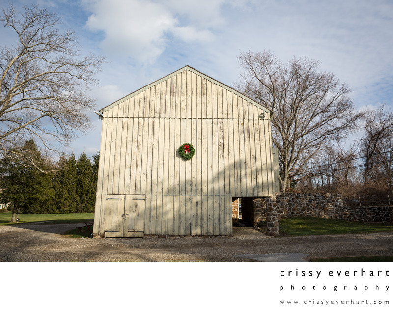 Historic Sugartown's Cheever Barn in the Winter