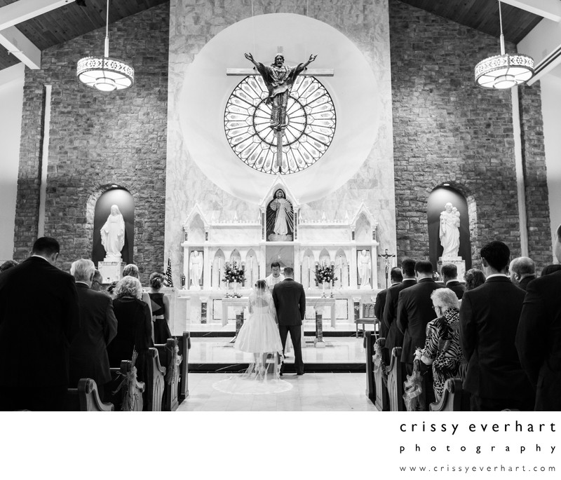 St Patrick's Church Catholic Wedding Ceremony Malvern