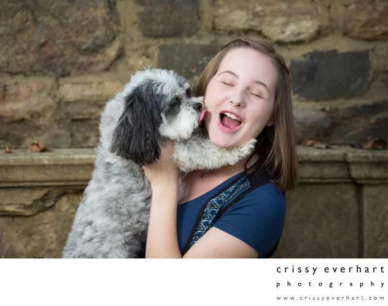 Senior Portraits with Dog  - Pet Photographer