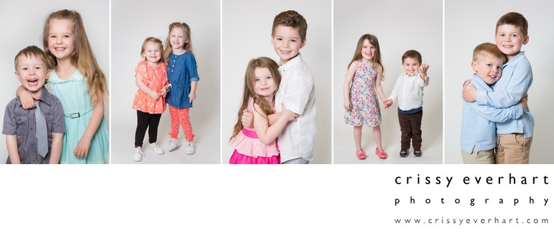 Preschool Portraits and Daycare Photos - Siblings