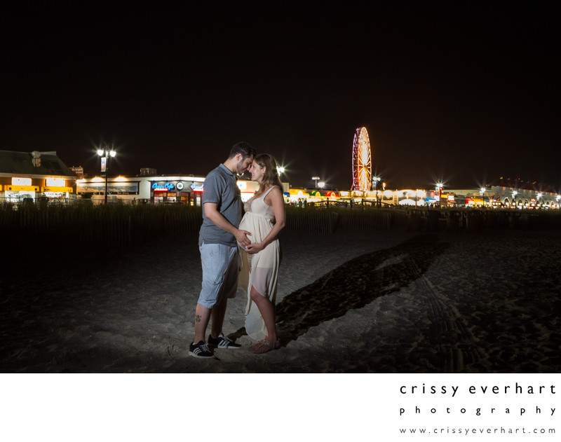 Maternity Session on Beach in Ocean City, New Jersey