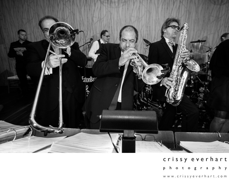 Horns Section of Don Eaton Orchestra Playing at Pomme