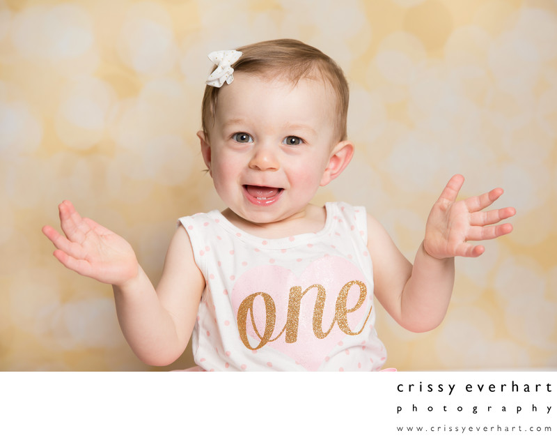 First Birthday - Colorful Studio Portraits - 1 Year Old