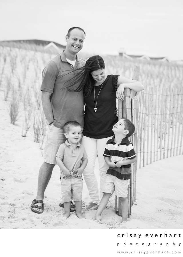 Casual Portraits at the Beach, New Jersey Family Photos