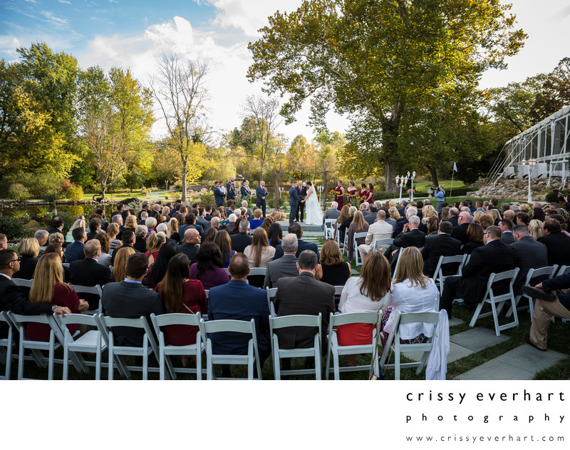 Manor House at Prophecy Creek Fall Outdoor Ceremony