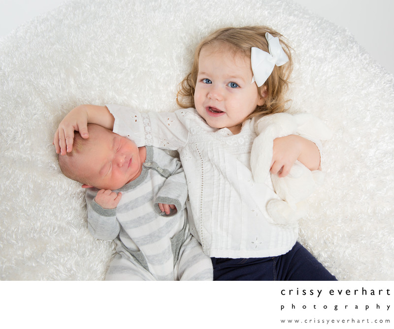 Toddler and Newborn Portrait Session- Big Sister Photos
