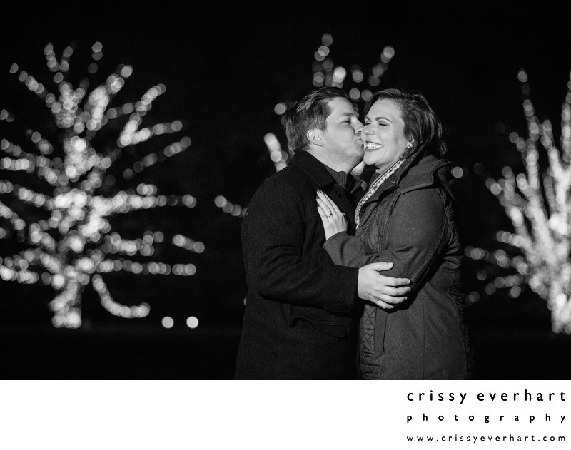 Christmas Proposal Photos at Longwood Gardens