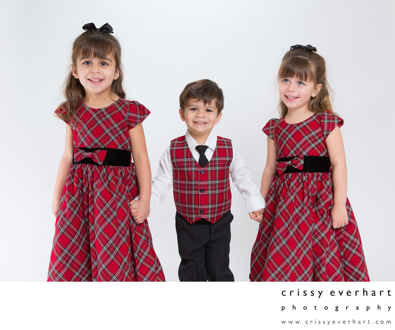 Malvern Portrait Studio Christmas Photos with 3 Kids