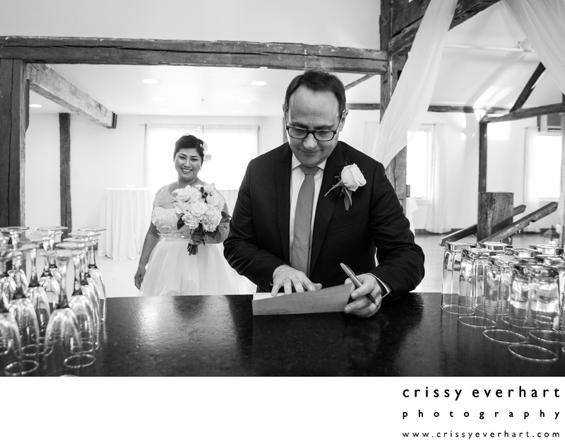 Signing the Marriage License after the Ceremony