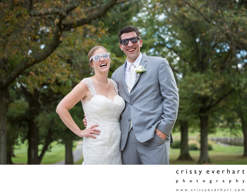 Funny Wedding Photos - Bride and Groom Glasses