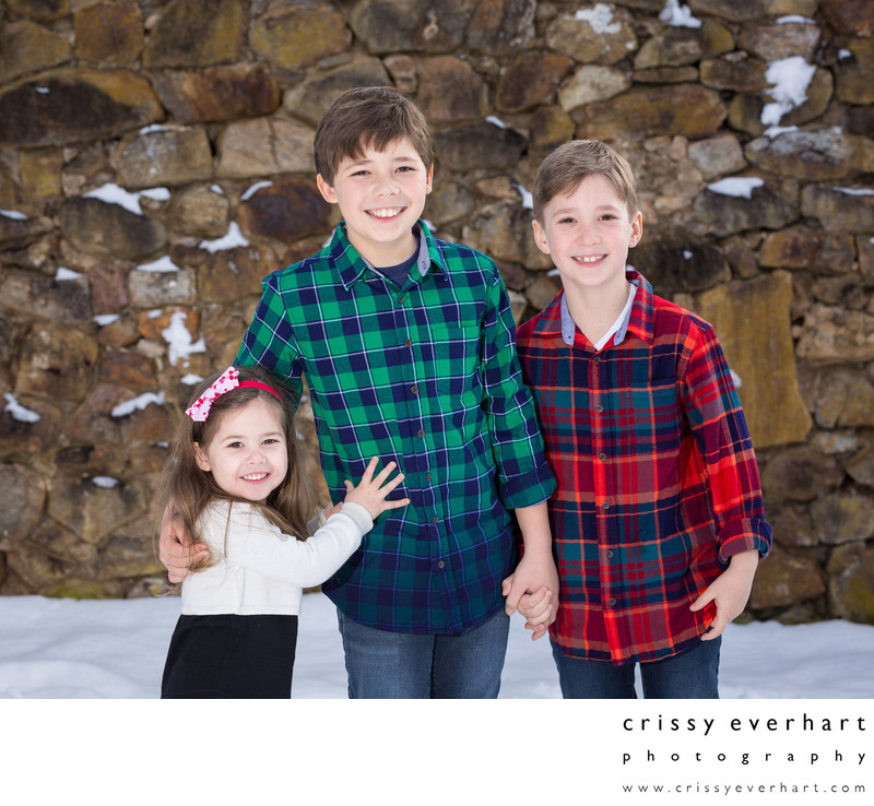 Snowy Portrait Session - Holiday Photos