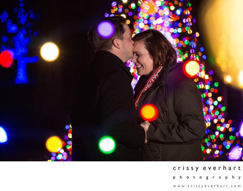 Proposal Portrait Session During Christmas at Longwood