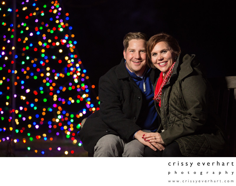 Holiday Lights Engagement and Proposal Photos