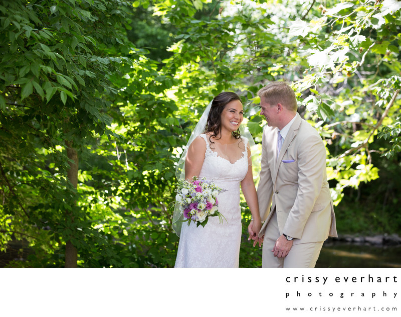 Spring Wedding at Elmwood Park Zoo- Woods and Stream