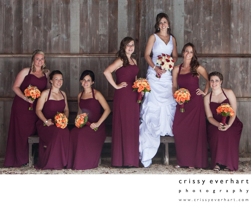 Bridesmaids at Brandywine River Museum