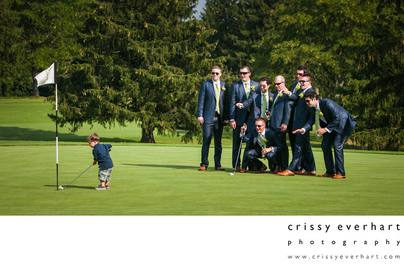 Ring Bearer Hits Winning Putt at Penn Oaks Golf Club