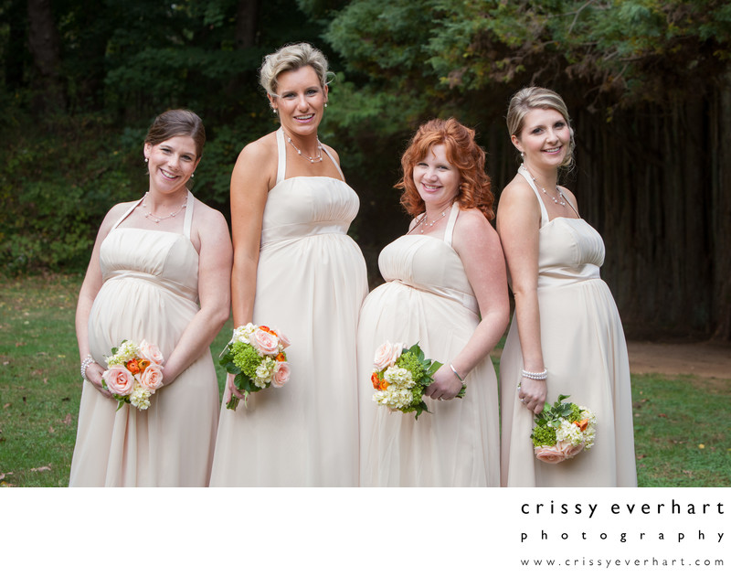 Pregnant Bridesmaids at Ridley Creek State Park
