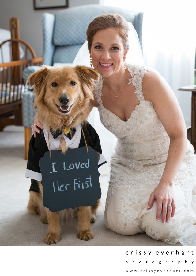 Bride and her Best Dog - West Chester Weddings