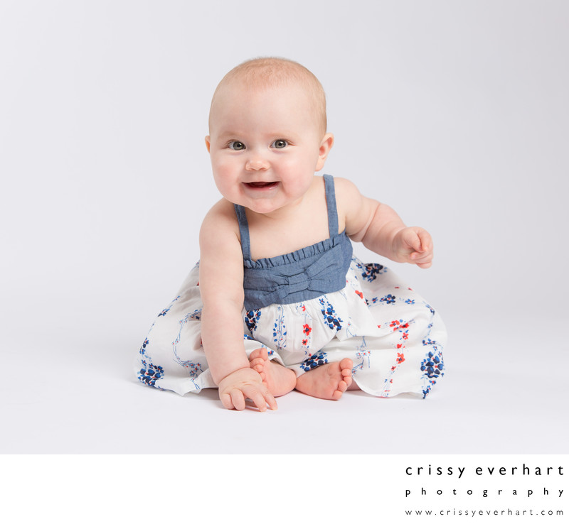 Sitters - Six Month Old Girl - Portrait Studio