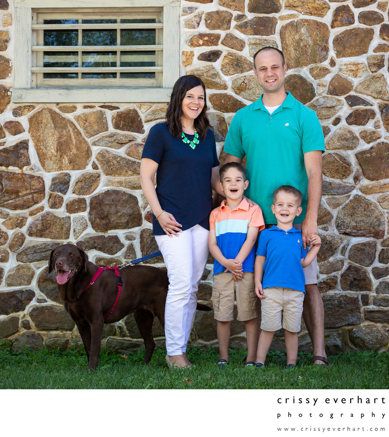 Family Portraits with Dog - Malvern Photography