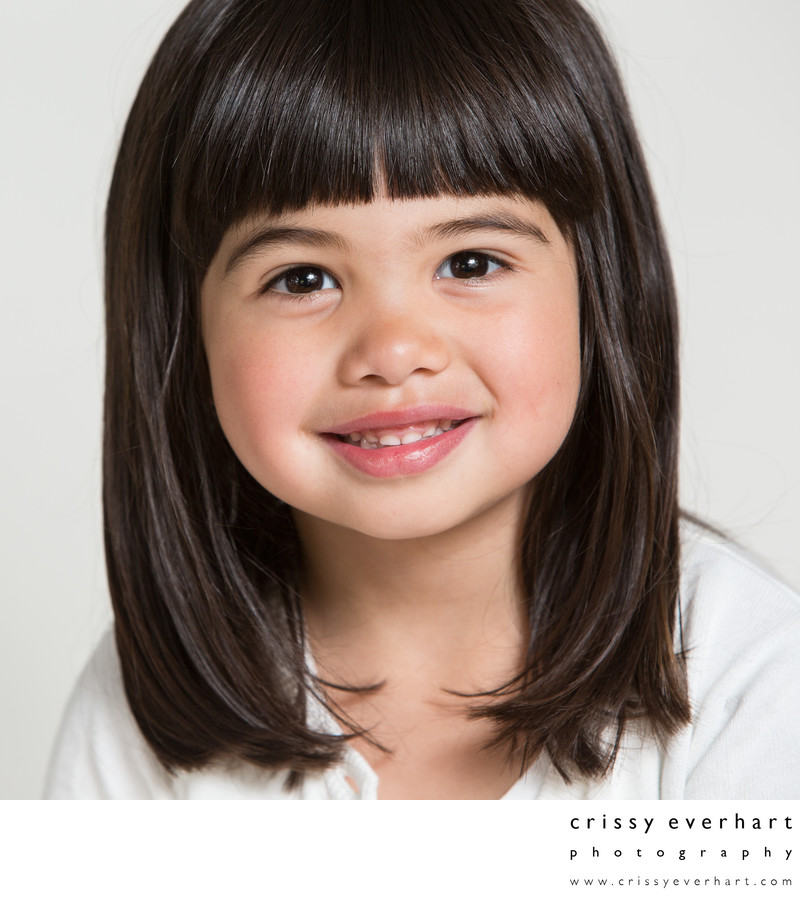 Four Year Old Pre-School Portrait - Close Up