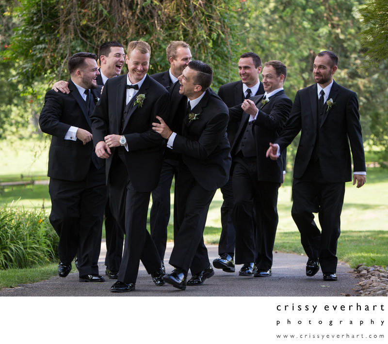 Downingtown Country Club - Groomsmen Walking